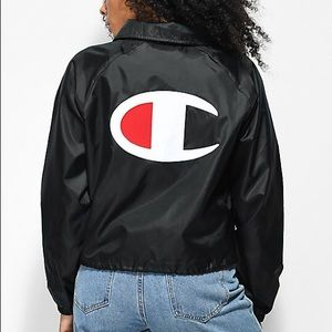 ce926af404e3 Champion Jackets   Coats - Champion Logo Coach Crop Jacket - Large